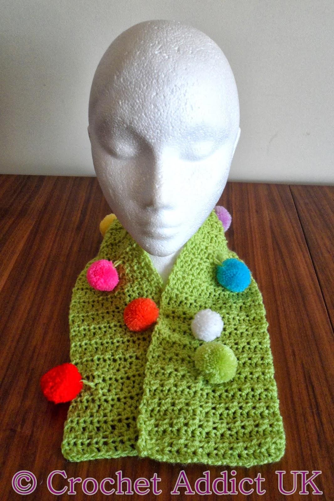 Jester Scarflette\Scarf Free Crochet Pattern ~ Crochet Addict UK