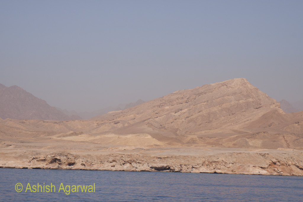 Short hills in the Sinai peninsula off the coast of Sharm el Sheikh in Egypt