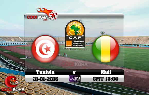 مشاهدة مباراة تونس ومالي اليوم 31-1-2016 في كأس أفريقيا للاعبين المحليين