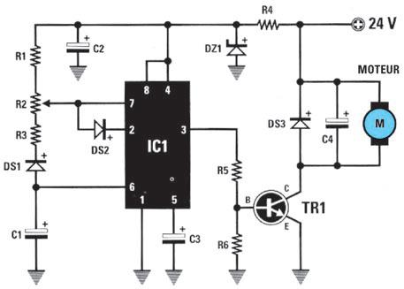 Fabriquer un variateur de vitesse pour moteur électrique 12v continu