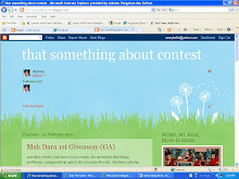 Saya ada blog lain..CONTEST..CONTEST..moh jenguk