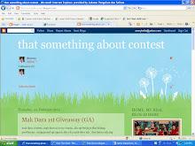 Saya ada blog lain..CONTEST..CONTEST..moh jenguk