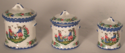 miniature canister set for dollhouse