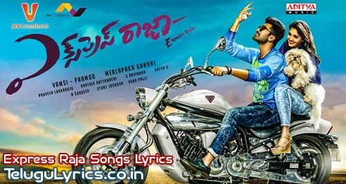 Express-Raja-Telugu-Movie-Songs-Lyrics-Poster