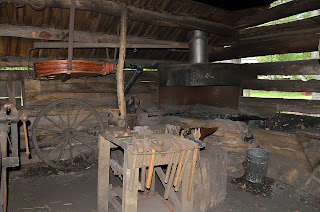 Blacksmith shop at Mabry Mill on Blue Ridge Parkway