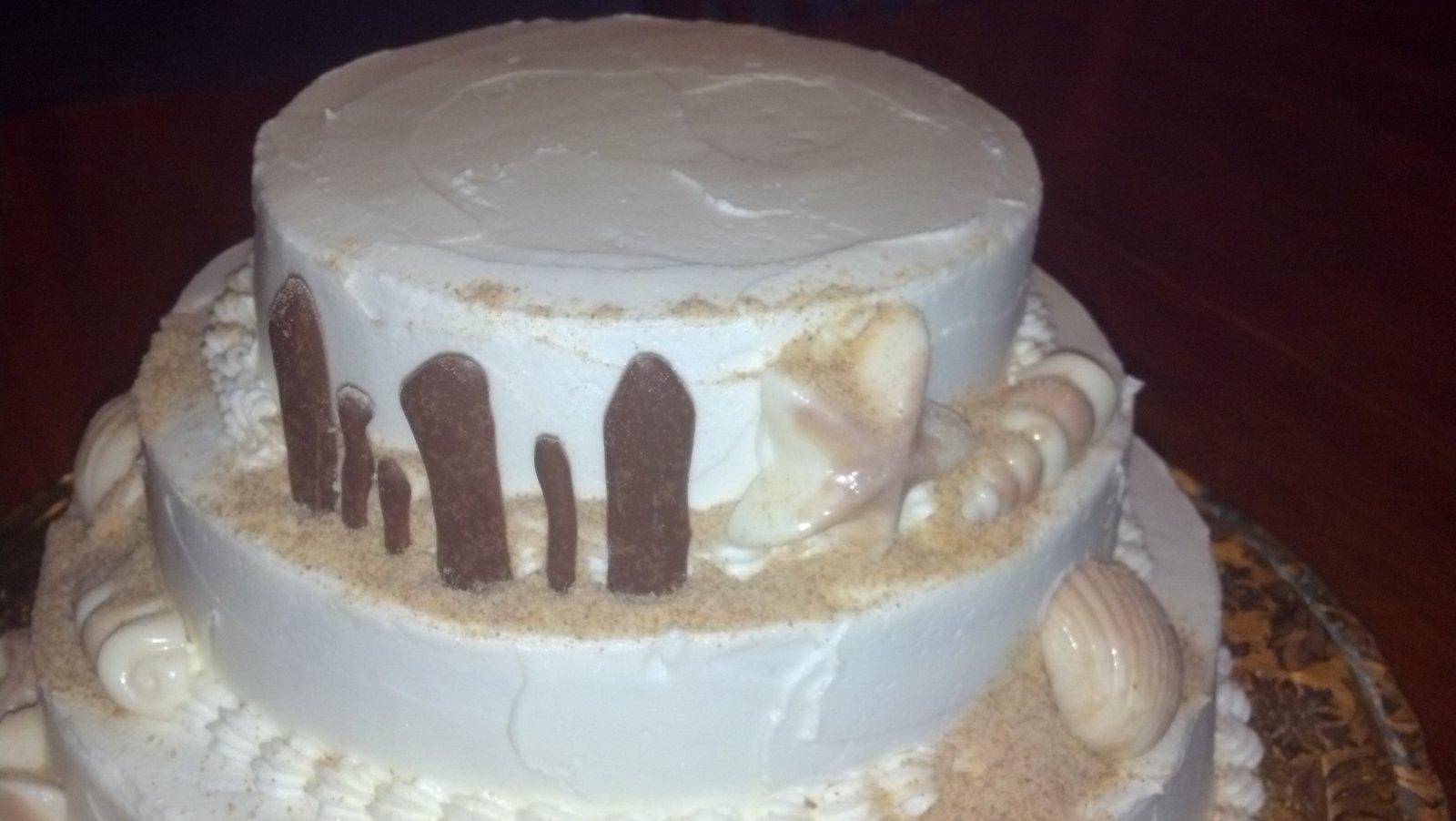 1st anniversary email ~ Cakes: beach themed 1st anniversary cake