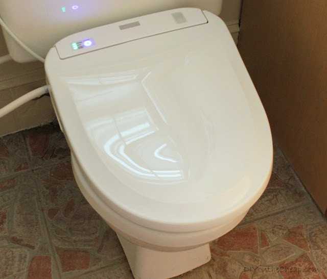 TOTO Washlet Giveaway via DIYontheCheap.com. It's the fanciest toilet seat ever!