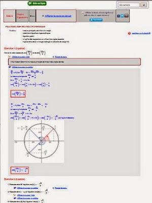 devoir corrigé trigonométrie