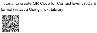QR Codes in PDF - vCard format