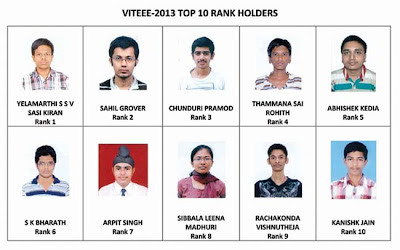 VITEEE-2013 RESULTS Download Online - Toppers List 2013