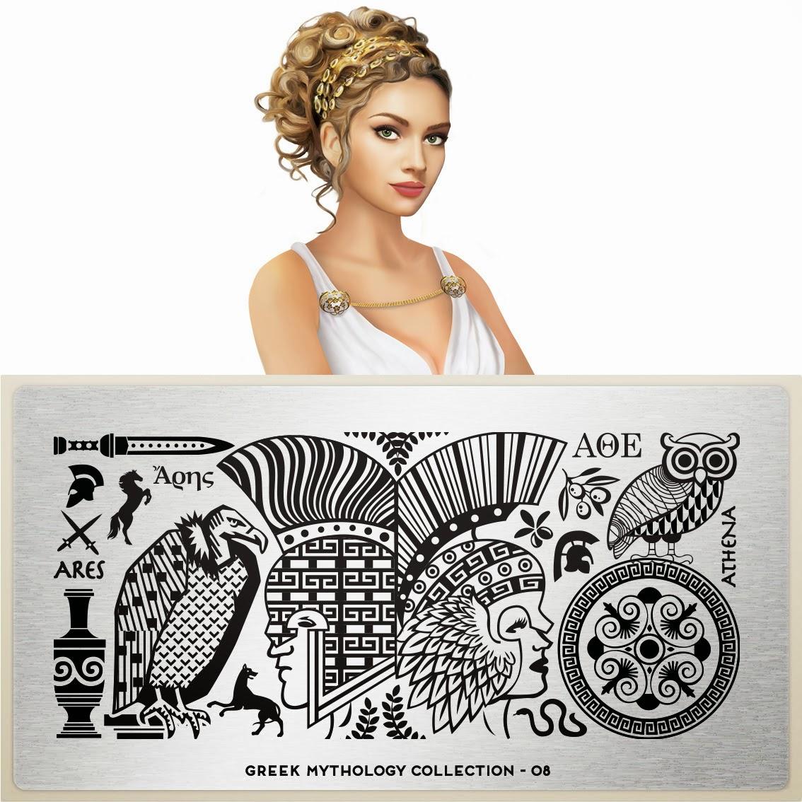 Lacquer Lockdown - MoYou London, MoYou London Greek Mythology Collection, greek mythology, nails, nailart, stamping, hercules, muses, diy nails, diy nail art, new stamping plates 2014, new nail art plates 2014, new image plates 2014, new plates 2014, bundle monster, pueen 2014, stamping,