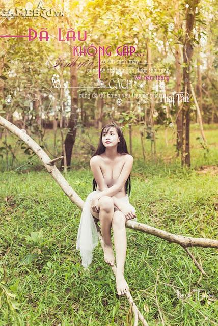 Ngọc Trần bán khỏa thân mộng mơ trong rừng 9