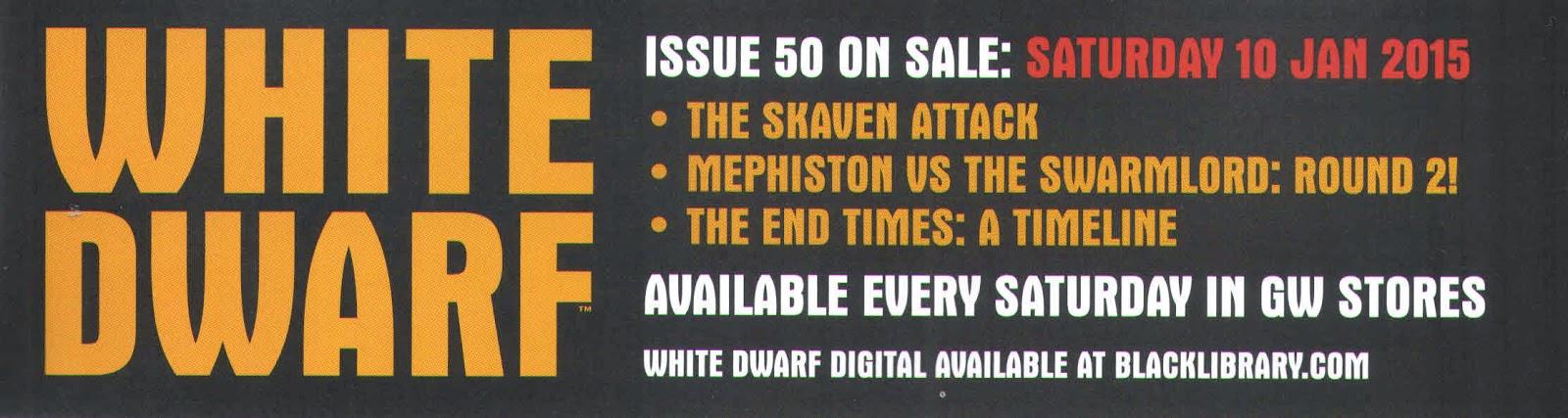 Adelanto de la White Dwarf Weekly 50