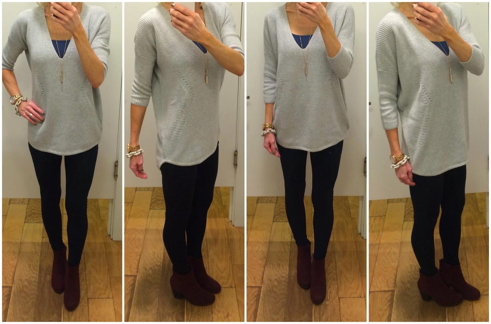 Express London Sweater review, fit notes, outfit idea