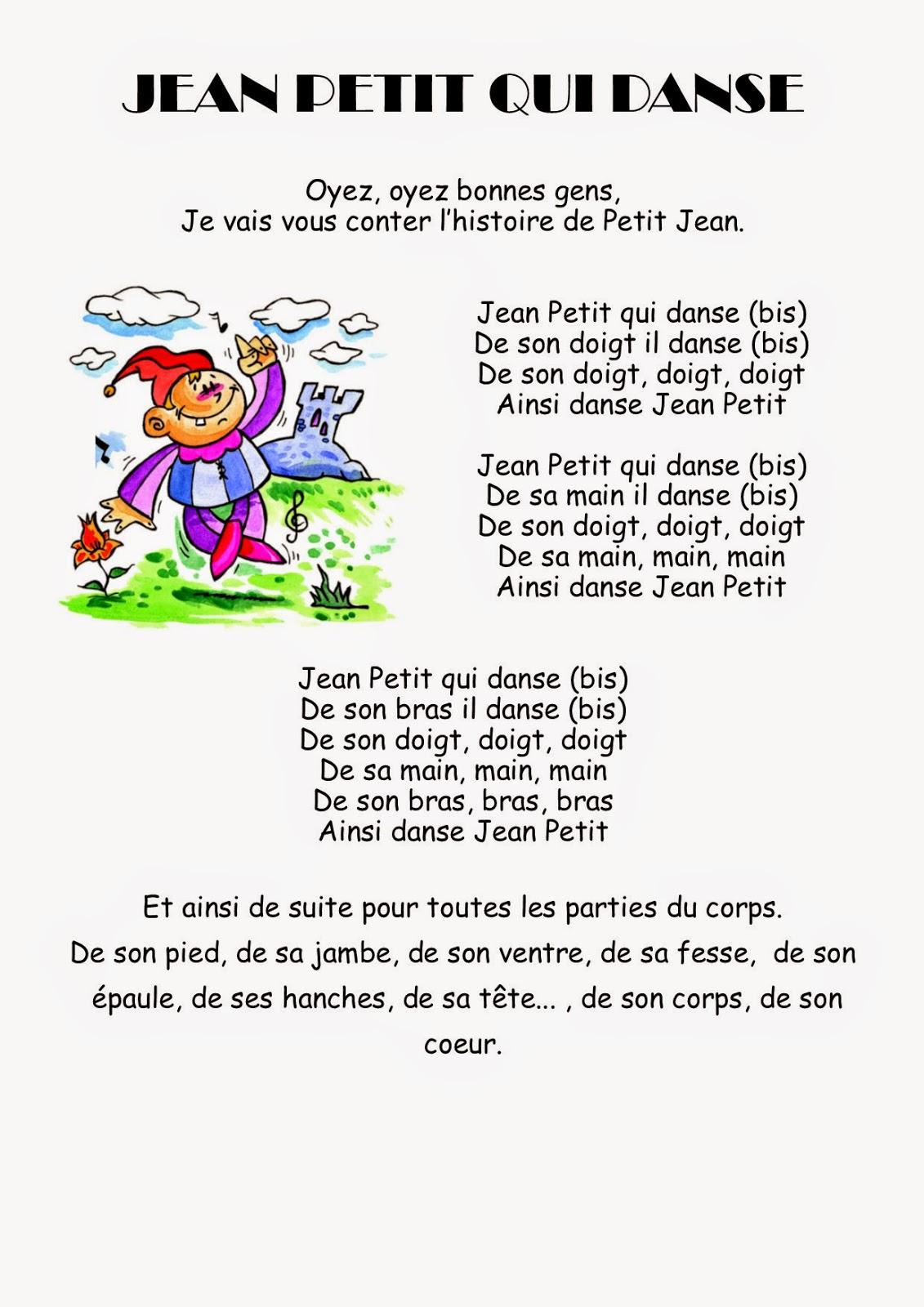 Comptine MS Jean Petit qui danse