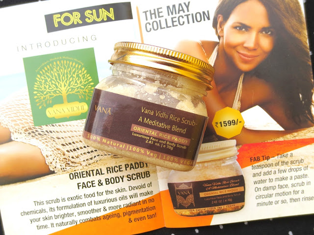 Vana Vidhi Rice Scrub Oriental Rice Paddy Face And Body Scrub