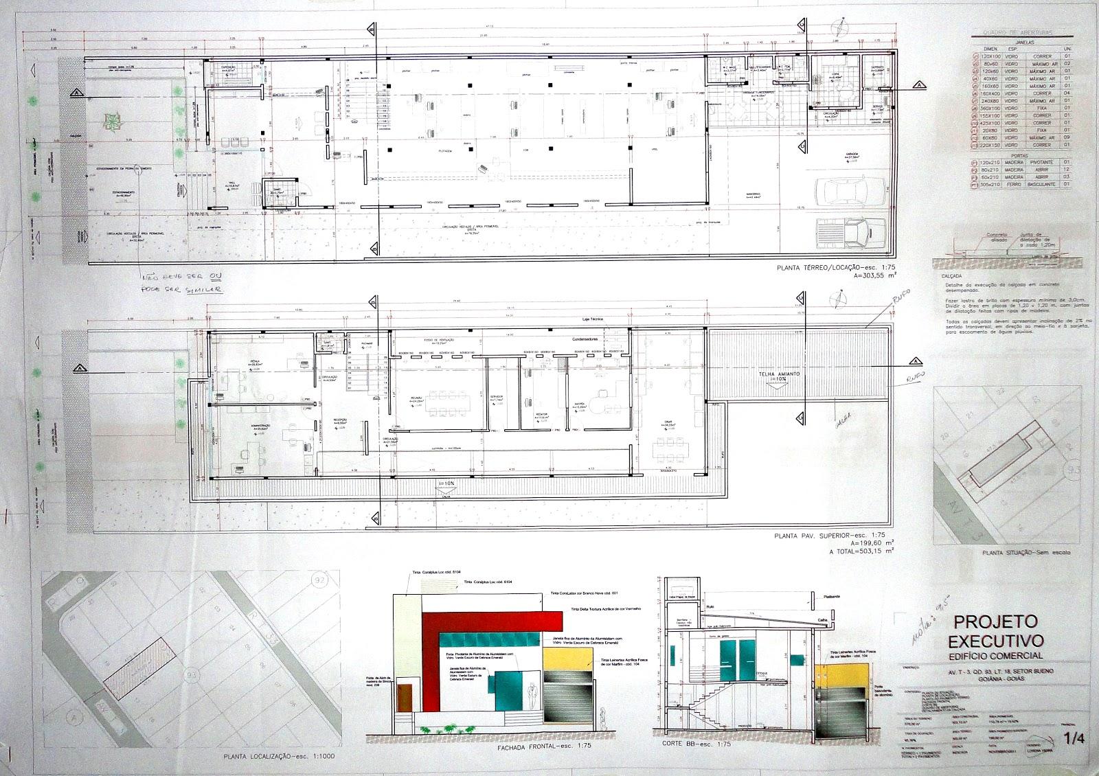 Urbanismo: Projeto Executivo de uma Arquitetura Comercial #87130B 1600 1130