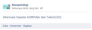 Cara Buat Update Status Facebook Warna Biru