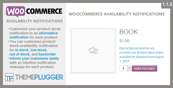 WooCommerce Availability Notifications v1.1.4