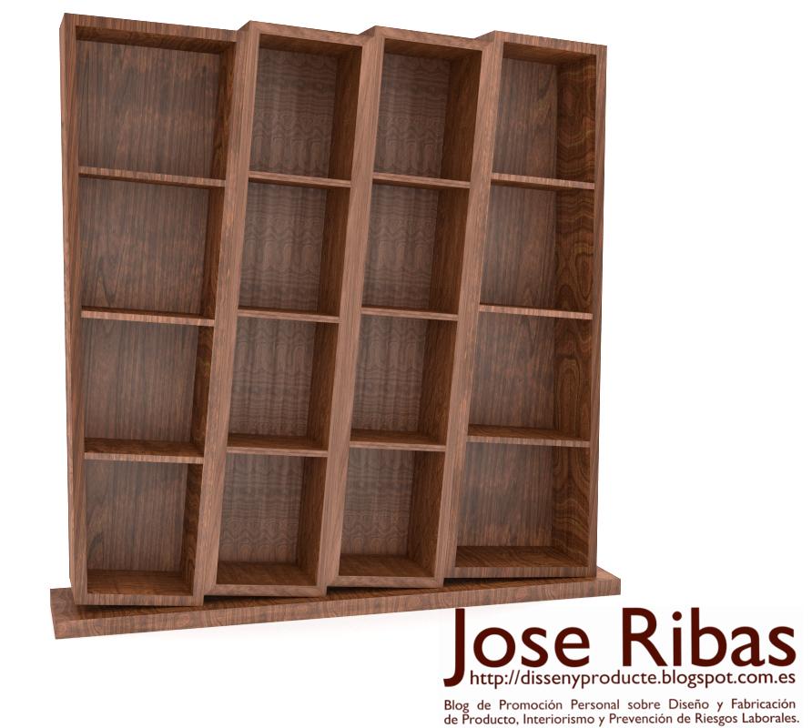 Librería madera noble