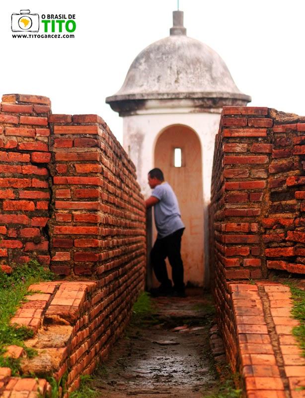 Guarita do baluarte de São Pedro na Fortaleza de São José de Macapá, no Amapá