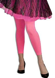 Pink, Footless Tights for an 80s Costume