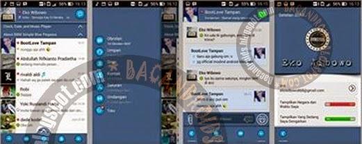 BBM Mod Thema Simple Blue Pegasus v2.6.0.30 Apk