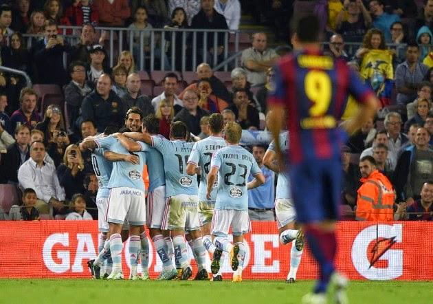 Primera victoria del Celta en el Camp Nou, noviembre 2014