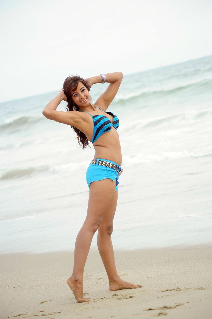 sanjjana bikini beach hot images