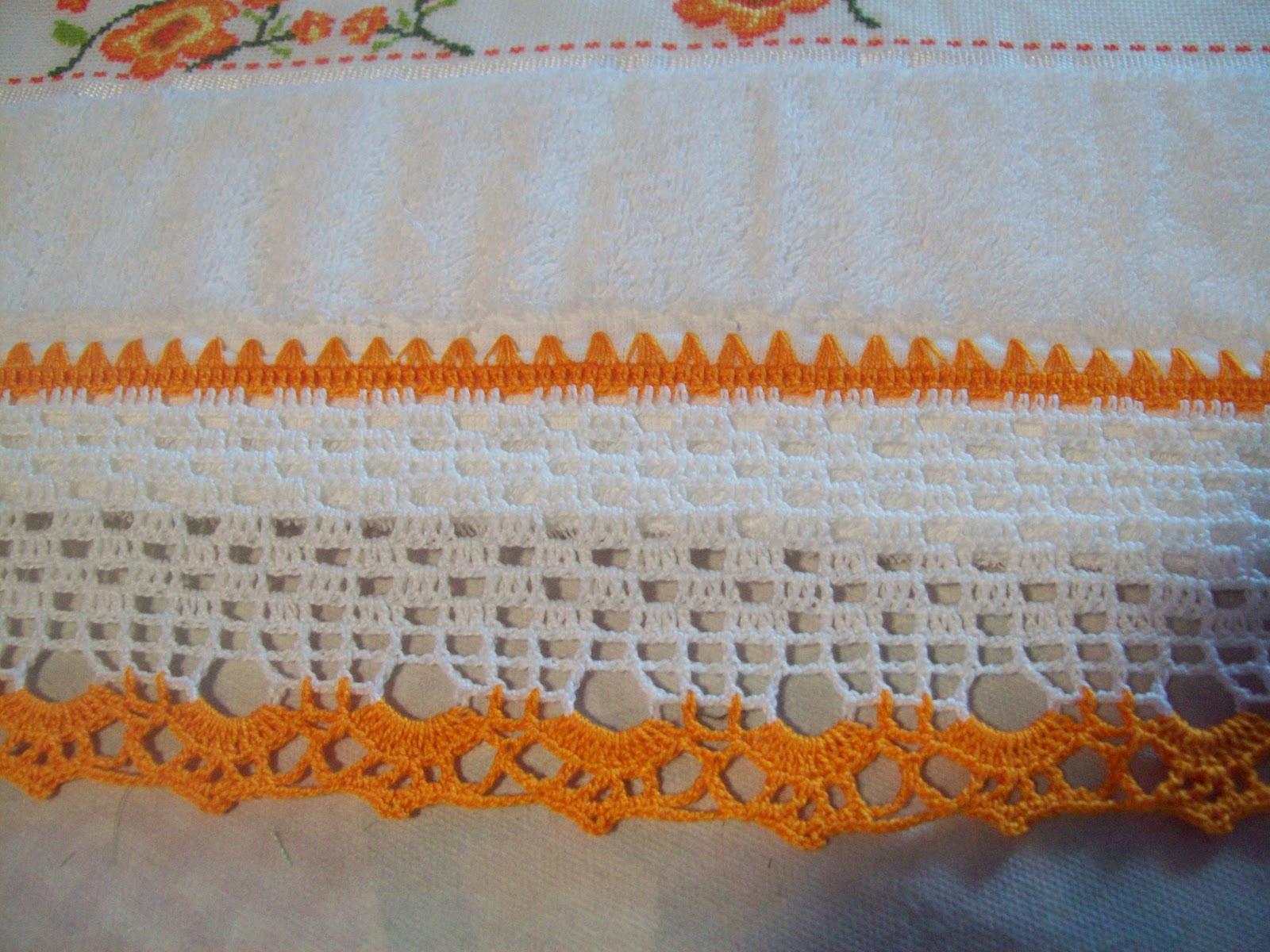 Puntos y retazos puntilla en crochet para toalla - Cosas para hacer de ganchillo ...