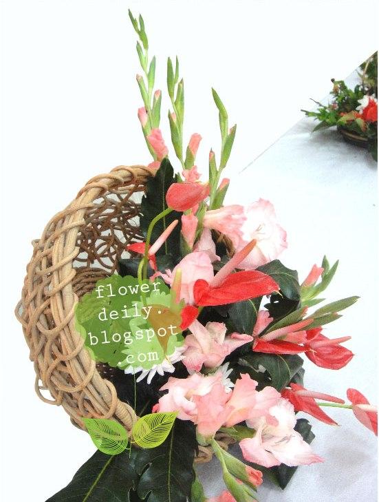 Flower Basket Arrangement Ideas : Just put your flowers in a basket flower daily