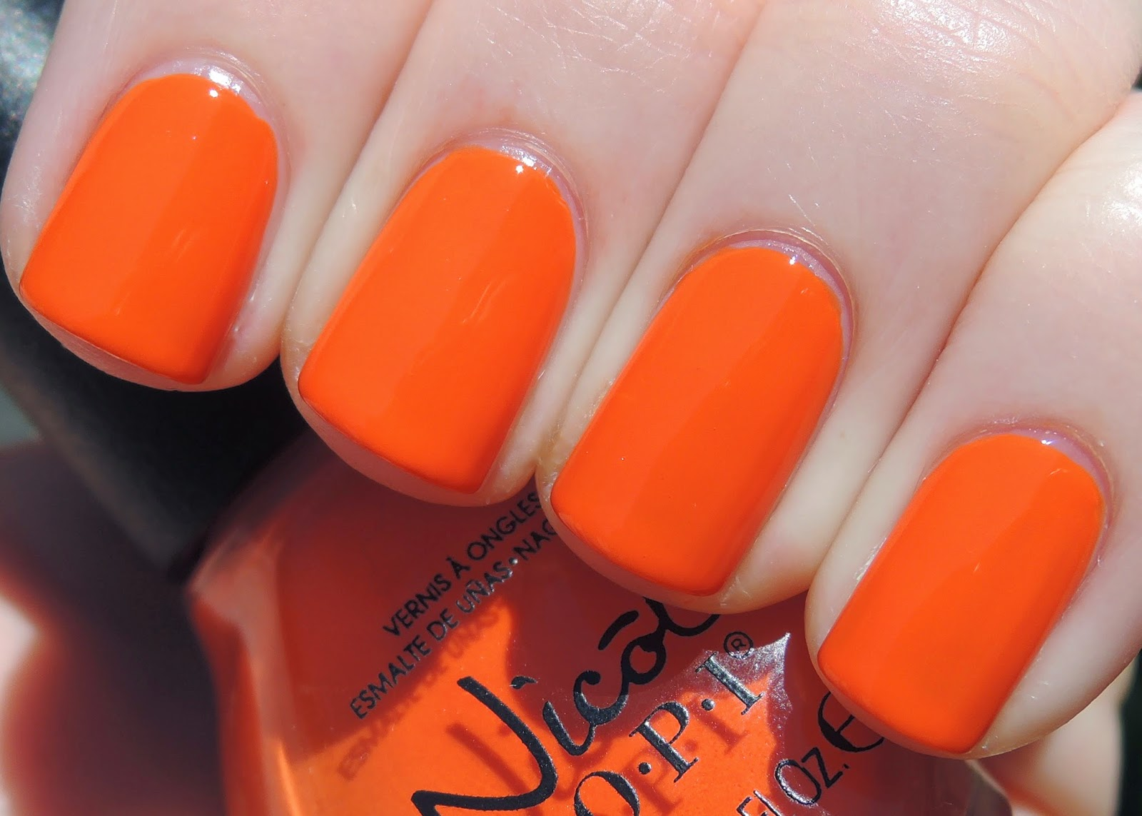 NOPI The Look is Orange swatch Nicole by OPI