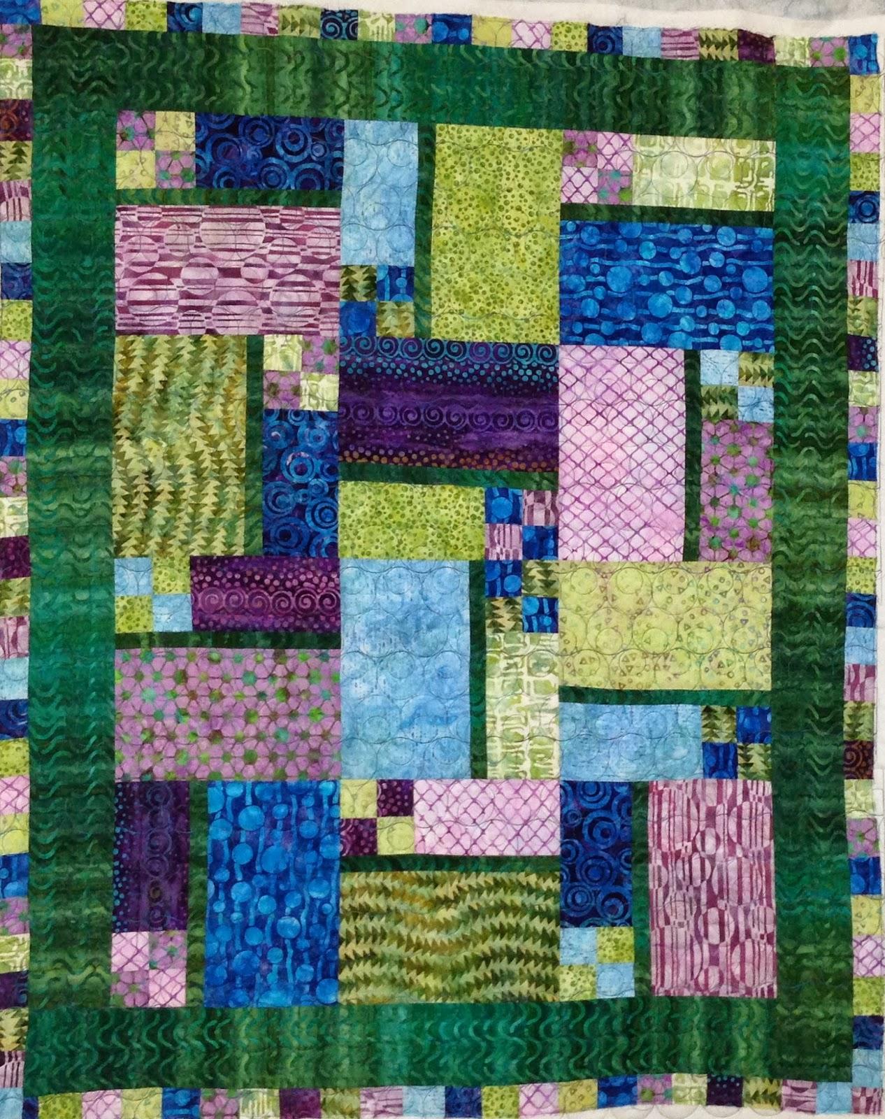 Debra Dennett Blue, Green, Purple Quilt