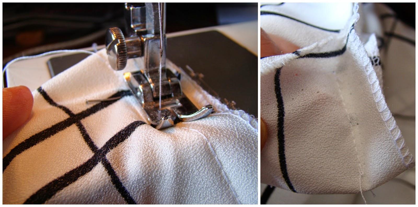 Las cosemos a máquina