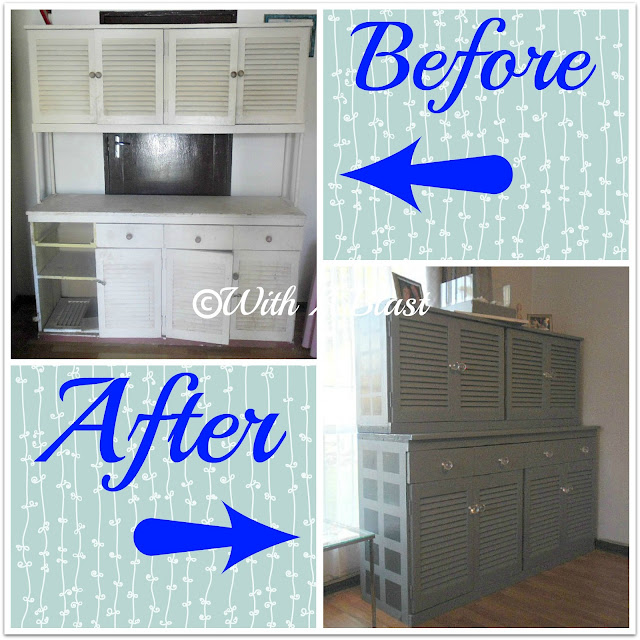 cabinet makeover     With a Blast