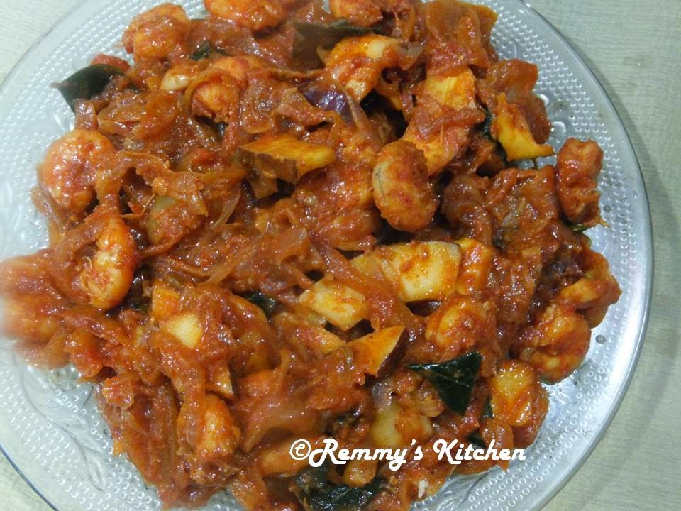 Chemmeen olarthiyathu/Shrimp roast kerala style