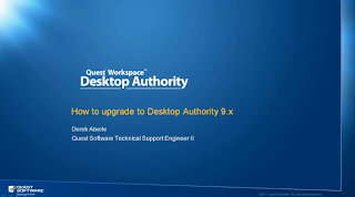 Upgrade to Desktop Authority 9