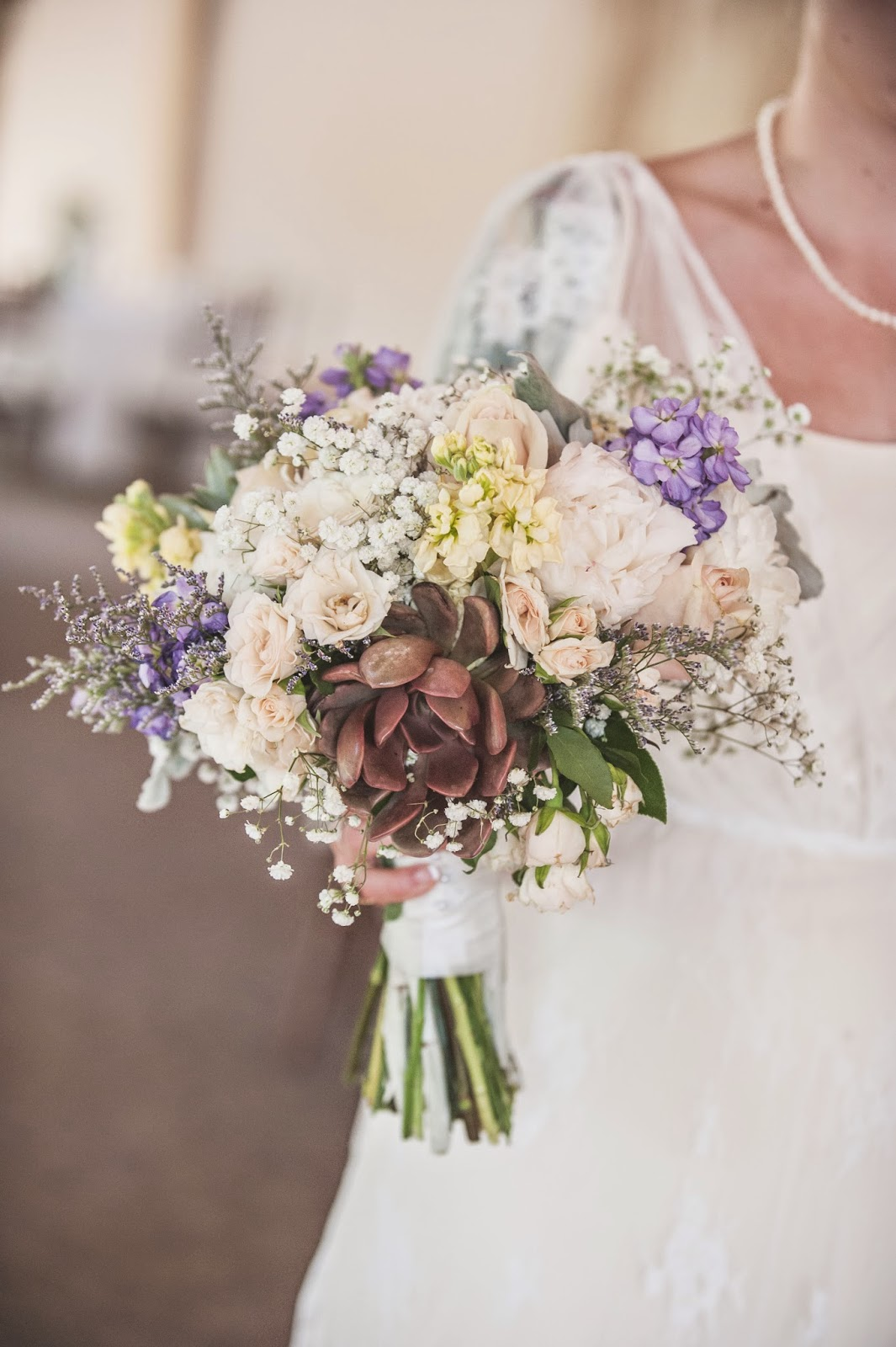Wedding Flowers with Succluents: Pendelton's Flower's