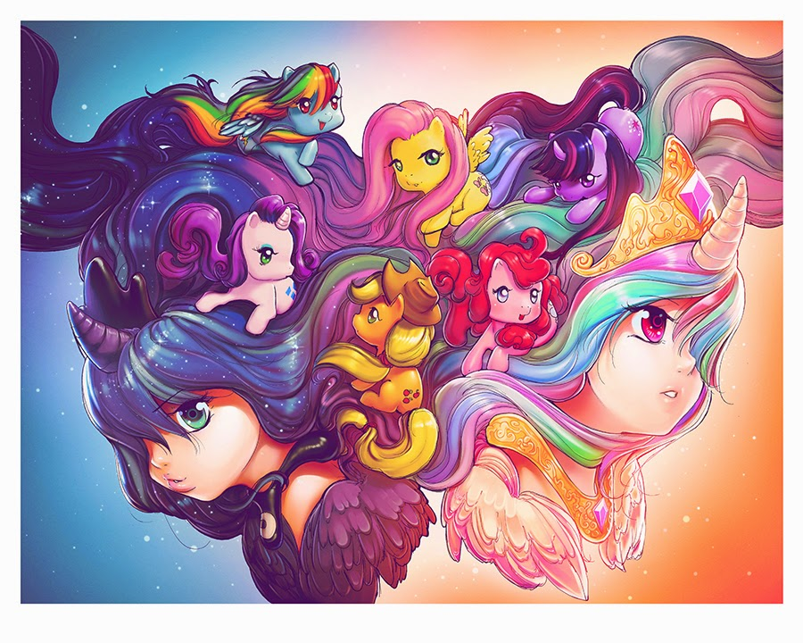 """My Little Pony """"Sisters"""" Print by Camilla d'Errico"""