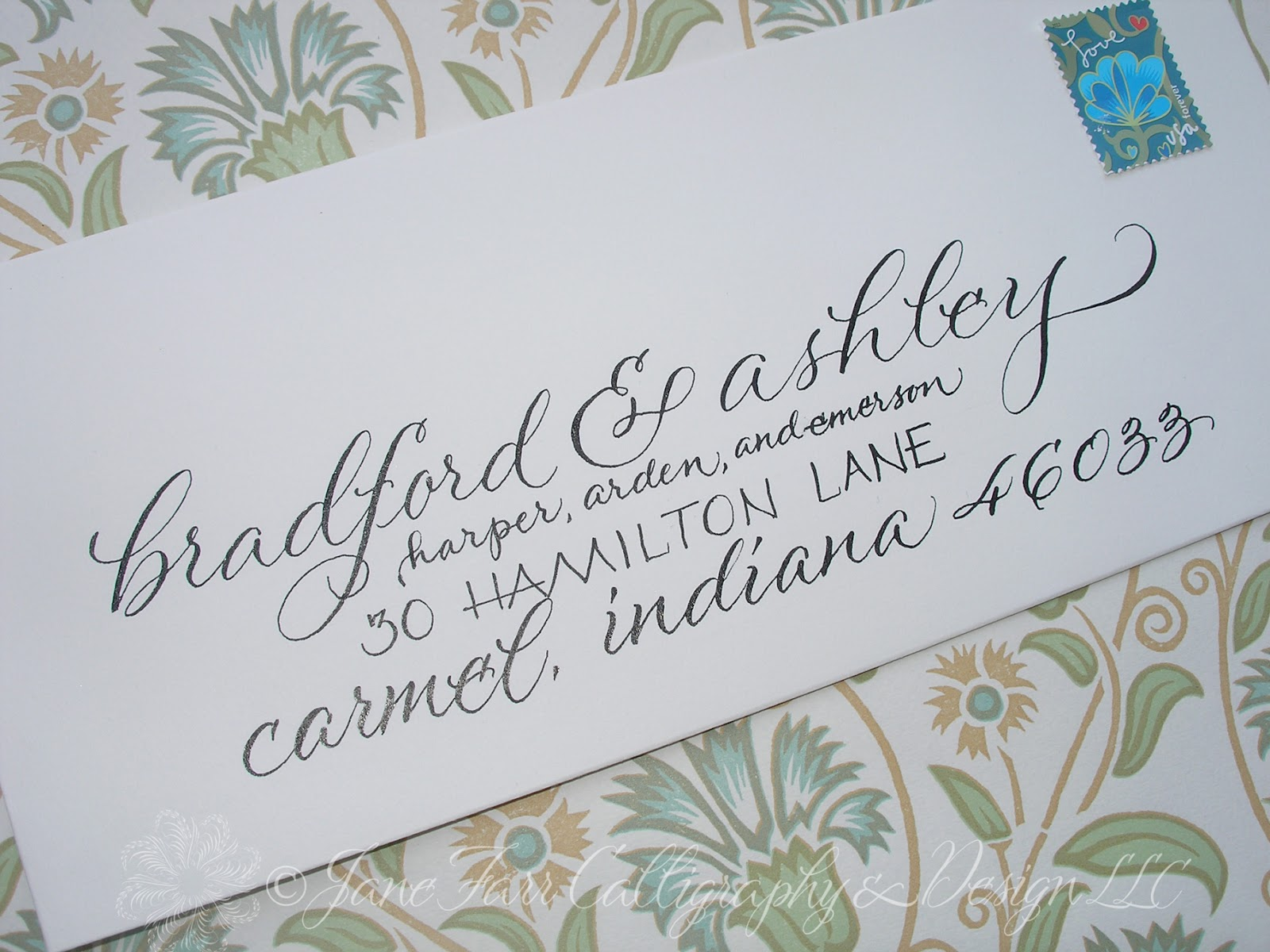wedding calligraphy by jane farr pricing and requirements