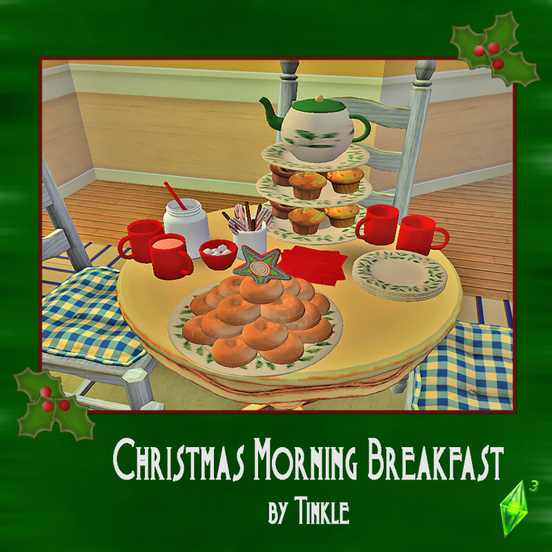 Christmas Decorations On Sims 3: Totally Sims 3 Updates: Christmas Morning Breakfast By Tinkle