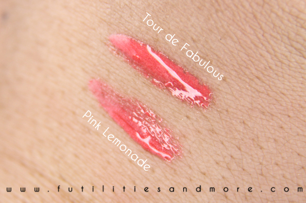 Mac lipgloss: Pink Lemonade and Tour de Fabulous – Swatches, Test and Review