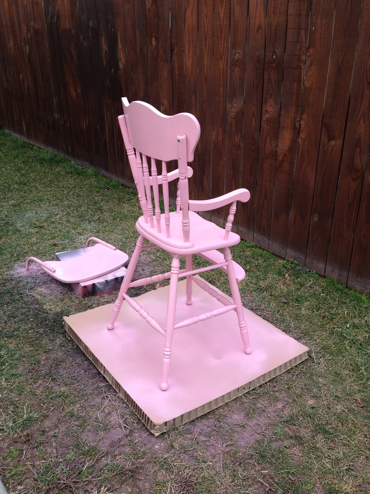 Vintage wooden high chair - Vintage Highchair