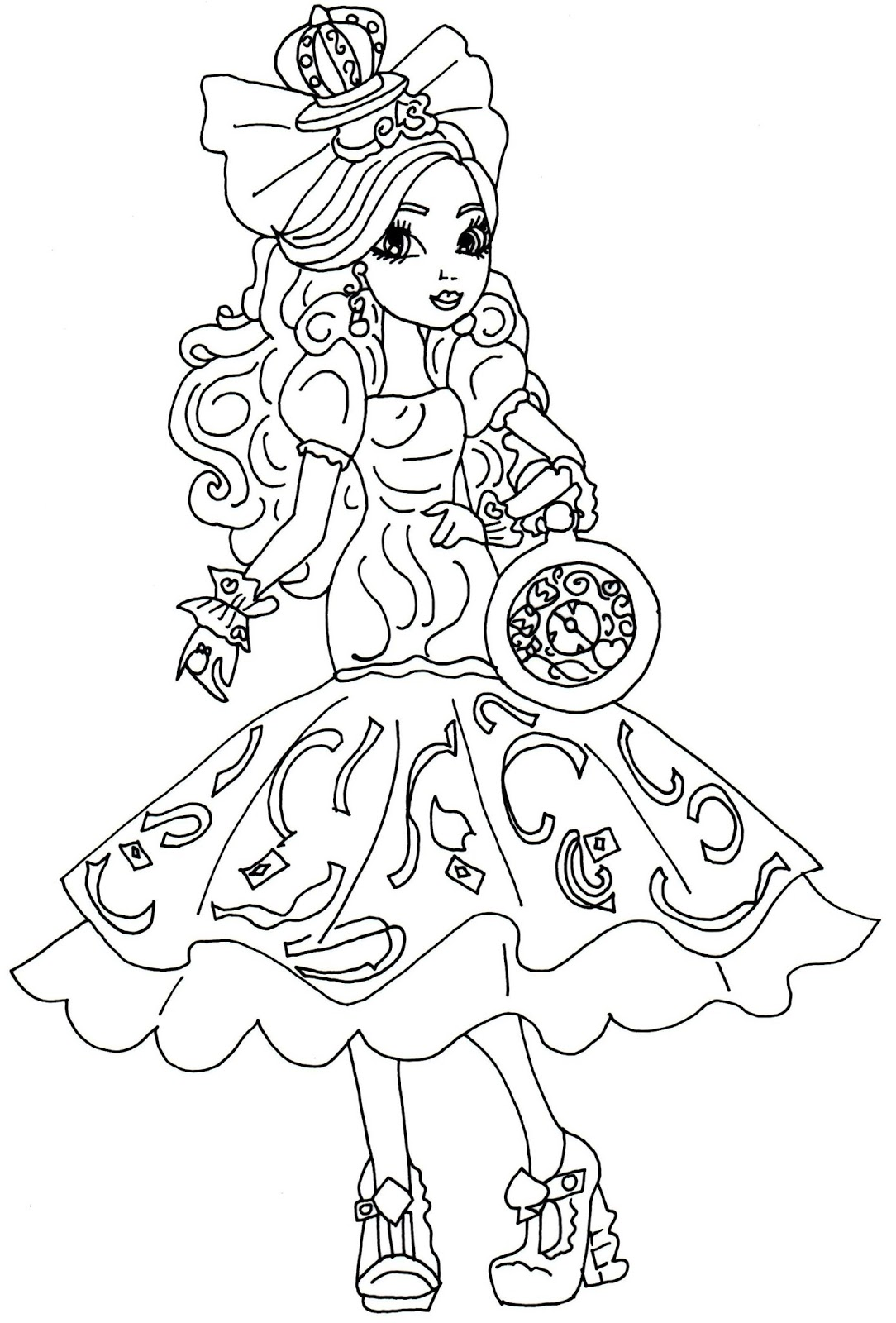 Printable coloring pages ever after high - Apple White Way Too Wonderland Ever After High Coloring Page