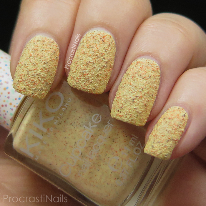Swatch of Kiko Textured Cupcake Nail Lacquer 648 Pineapple