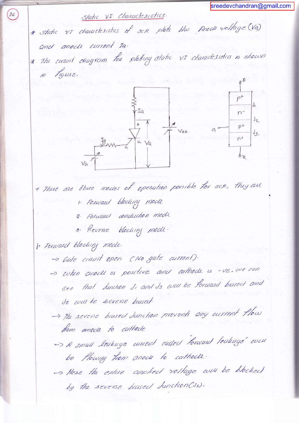 Power Electronics Notes Silicon Controlled Rectifier Scr Click Here To Down Load This Document