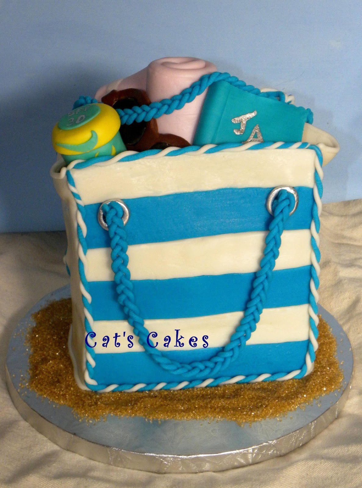 The Cherry On Top Events Party Blog: Beach Bag Birthday Party