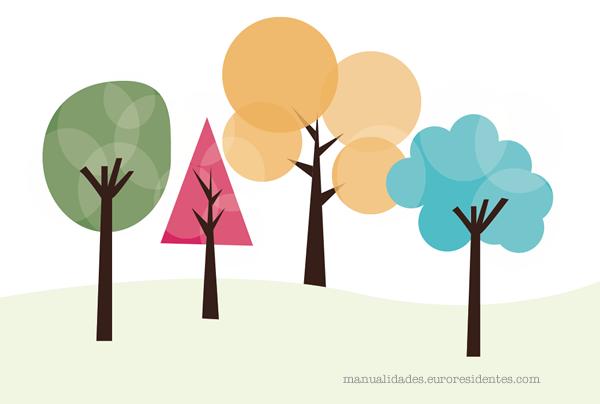 dibujo de árbol para imprimir gratis