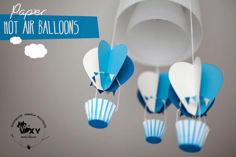 baloane cu aer cald, baloane petrecere, baloane din hartie, baby shower, petrecere bebelusi