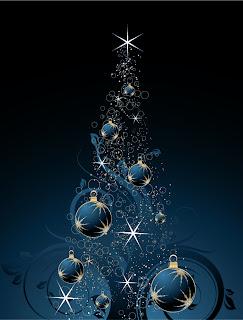 輝くクリスマス・ツリーのデザイン FLASHING CHRISTMAS TREE VECTOR MATERIAL イラスト素材4